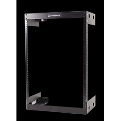"FIXED WALL MOUNT RACK         30""H X 19.75""W X 18""D, 15U    STEEL, BLACK"