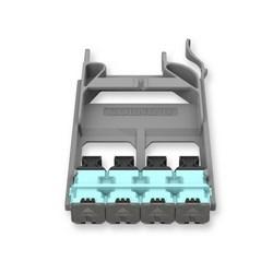 EDGE8 panneau de MTP, 8F, 50 µm multimode (OM4), un adaptateur de Aqua