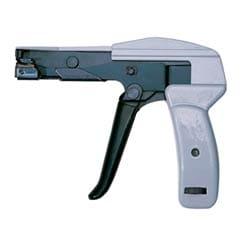 CABLE TIE GUN FOR TIGHTENING CABLE-TIES ON WIRE BUNDLES