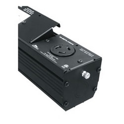 MPR Series IX30DN 20A Twistlock L5-20R Module, 4 Inch Depth, Steel, Textured Black Powder Coat