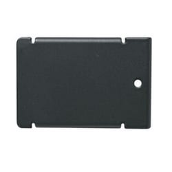 MPR Series IXE20DN 2 Inch Blank Cover, 2.93 Inch Width x 8 Inch Depth, Steel, Black Powder Coat