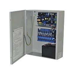 Access Power Controller w/ Power Supply/Charger, 8 PTC Class 2 Relay Outputs, 12VDC @ 10A, Aux Output, FAI, 115VAC, BC400 Enclosure