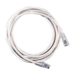 Cordon de raccordement modulaire, Cat 6, quatre paires, AWG échoués, PVC, longueur 3', blanc