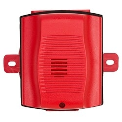 Horn, 12/24 VT, Outdoor, Wall/Ceiling Mount, with Backbox, Red
