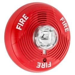 Horn/Strobe, 2-wire, High-candela, Indoor, Ceiling Mount, Red