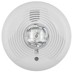 Horn/Strobe, 2-wire, High-candela, Indoor, Ceiling Mount, White