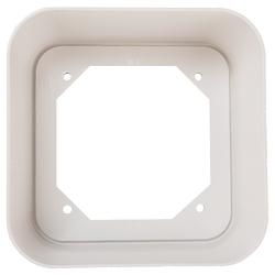 Jupe de boîtier encastré, Surface Mount, intérieur, blanc