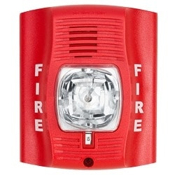 Horn Strobe, 2-wire, High-candela, Indoor, Wall Mount, Red