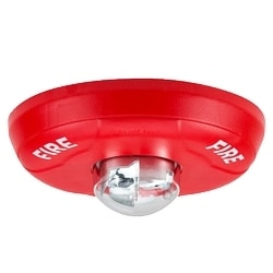 Strobe, Standard-candela, Indoor, Ceiling Mount, Red