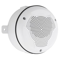Speaker, Outdoor, Ceiling Mount, with Backbox, White