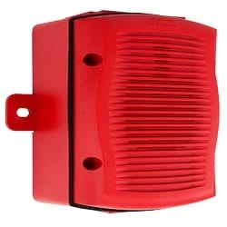 Speaker, Outdoor, Wall Mount, with Backbox, Red