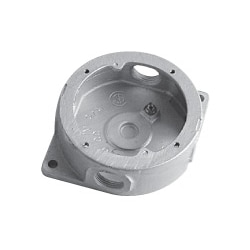 "Junction Box, Round, with Cover and Gasket, 1-1/2"" Inside Depth, 1/2"" Hub Size, Gray Iron"