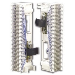 Prewired Block, S66, M Series 4x50, 50 Pair, Front Punch, (2) 25 Pair Female Connectors, S89D Bracket