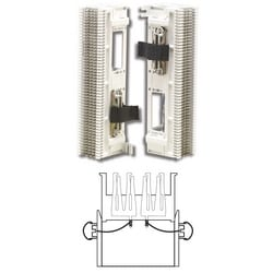 Prewired Block, S66, M Series 4x50, 50 Pair, Wire Wrapped, (2) 25 Pair Female Connectors, S89D Bracket, Back Mount