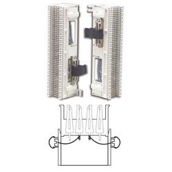 Précâblé bloc, S66, série M 4 x 50, 50 paire, fil enveloppé, (2) 25 paire connecteurs femelles, support S89D, comblé