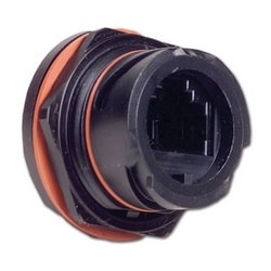 Copper, Outlet, Ruggedized, UTP, Category 6, RJ45, Black, Punch down, T568A/B