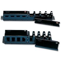 S110/S210 Rack Mount Cable Manager avec couvercle, noir, 2 ch.