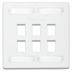Façade, 10G, Double commande, 6 ouvertures, MX, blanc