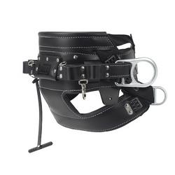 ExoFit NEX Arc Flash Positioning/Climbing Harness, PVC Coated Aluminum Back D-Ring, Nomex/Kevlar Fiber Webbing and Comfort Padding, Locking Quick Connect Buckle Leg Straps, Small