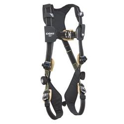 ExoFit NEX Arc Flash Positioning/Climbing Harness, PVC Coated Aluminum Back D-Ring, Nomex/Kevlar Fiber Webbing and Comfort Padding, Locking Quick Connect Buckle Leg Straps, Large