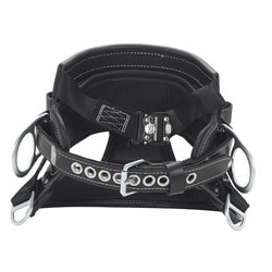 4D Lineman Tongue Buckle Belt With Top-Grain Leather And Contoured Seat Pad, Size D24
