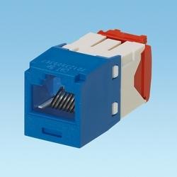 Category 5e, UTP, 8-pos, 8-wire, Universal, TG Avaya Style Jack Module, Blue