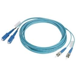 Recto verso Standard Grade SC référence Grade référence LC Cable Assembly, Riser évalué 2mm chemisé câble - 10Gig 50/125µm