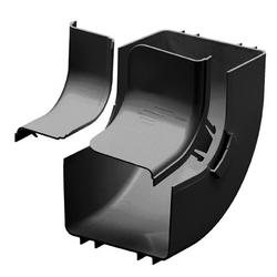 """Raccord et couvercle, à l'intérieur de 90o Vertical, 6 """"X 4"""" 150 X 100 mm Fiberrunner, BL"""