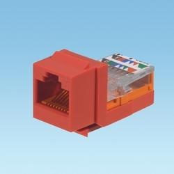 Keystone Module, Category 5e, UTP, Red, T Style