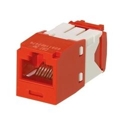 Mini-com Module résistant à la corrosion, catégorie 5e, UTP, rouge, Style TG