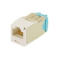 Mini-com Module, Category 6A, UTP Module, 8 Pos 8 Wire, 28/30 AWG, Universal, International White, TG Style