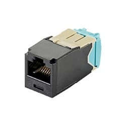 Mini-com Module, Category 6A, UTP Module, 8 Pos 8 Wire, 28/30 AWG, Universal, Brown, TG Style