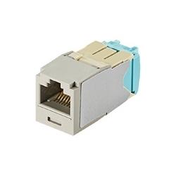 Mini-com Module, Category 6A, UTP Module, 8 Pos 8 Wire, 28/30 AWG, Universal, International Gray, TG Style
