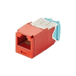 Mini-com Module, Category 6A, UTP Module, 8 Pos 8 Wire, 28/30 AWG, Universal, Red, TG Style