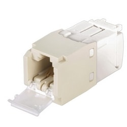 Mini-com Shuttered Module, Category 6, UTP, 8 Pos 8 Wire, Universal, Electric Ivory, TG Style
