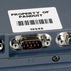 """P1 Cassette, Comp Label, Super-tack Polyester, 2.00"""" W X 0.50"""" H, White"""