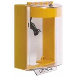 Bouchon universel avec corne et relais, Surface ne Mount, aucun étiquette - jaune
