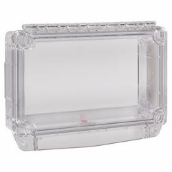 En polycarbonate couvercle boîte arrière ouvert