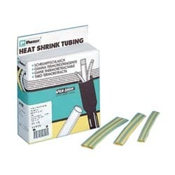 "Heat Shrink Tubing, Thin, .50""(12.7mm) Diameter, Yellow/Green, 25 FT. Reel"