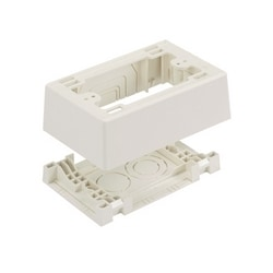 Power Rated Single Gang Fast Snap Junction Box, Off White