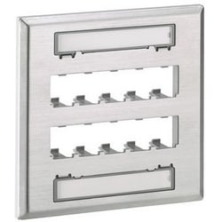 Faceplate, 10 Port, Double Gang, Stainless Steel