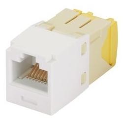 Module mini-com, chat 5e, 28/30 AWG, UTP, 8 Pos 8 fils, universel, blanc, Style TG