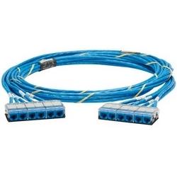 QN câble, Cat 6 a, Jacks/câble bleu, CMR, UTP, Cass-Cass, 25ft