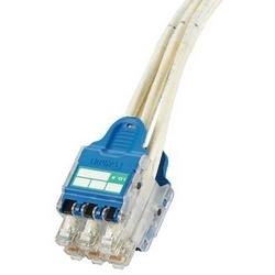 QN Plug Pack Asmbly, 12 Pack, WH Cat 6 UTP Câble CM W/bu Plug Pack, 10ft