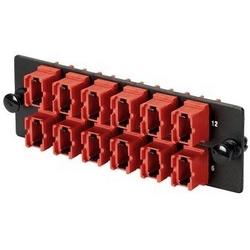 Opticom 100G FTU fibre adaptateur Panel, 8-port vert. Orient., Type A (touche touche Down / Up)