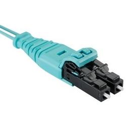 Veste en fibre 4 2,1mm OM6 + Sig Core, cordon de brassage, push pull LSZH LC à LC pousser-tirer, Ultra IL., 1m