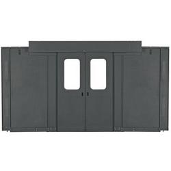 NET-contiennent des portes coulissantes pour allée 6 Ft 1800mm, 42 jusqu'à 45 RU RU armoire, noir
