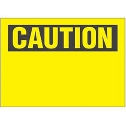 """Non-adh rigide Sign, polyéthylène, «attention» en-tête uniquement, 14"""" W10"""" H, BL/YL"""