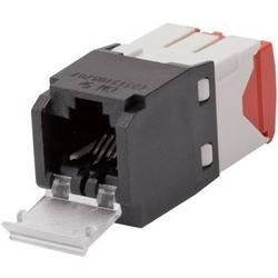 Mini-com un volet Module, Cat 5e, UTP, 8 Pos 8 fils, universel, noir, Style TG