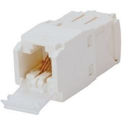 Mini-com un volet Module, Cat 6, UTP, 8 Pos 8 fil blanc Arctique, universel, TG Style